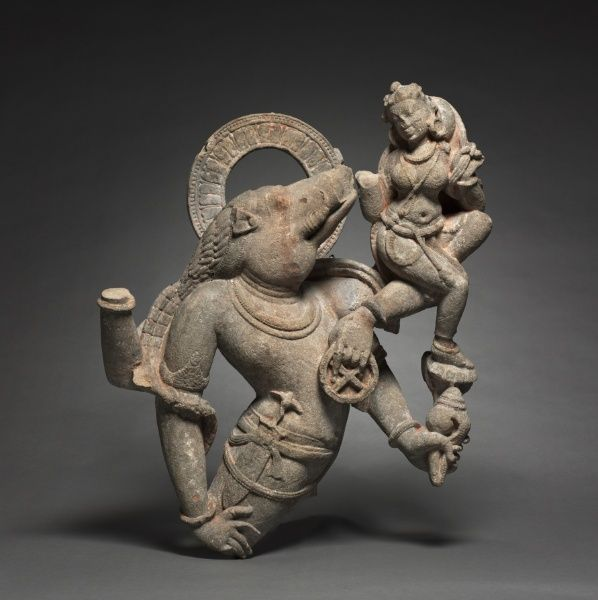 Varaha, Boar Reincarnation of Vishu, 8th-9th century Central India, Medieval Period, 8th-9th century