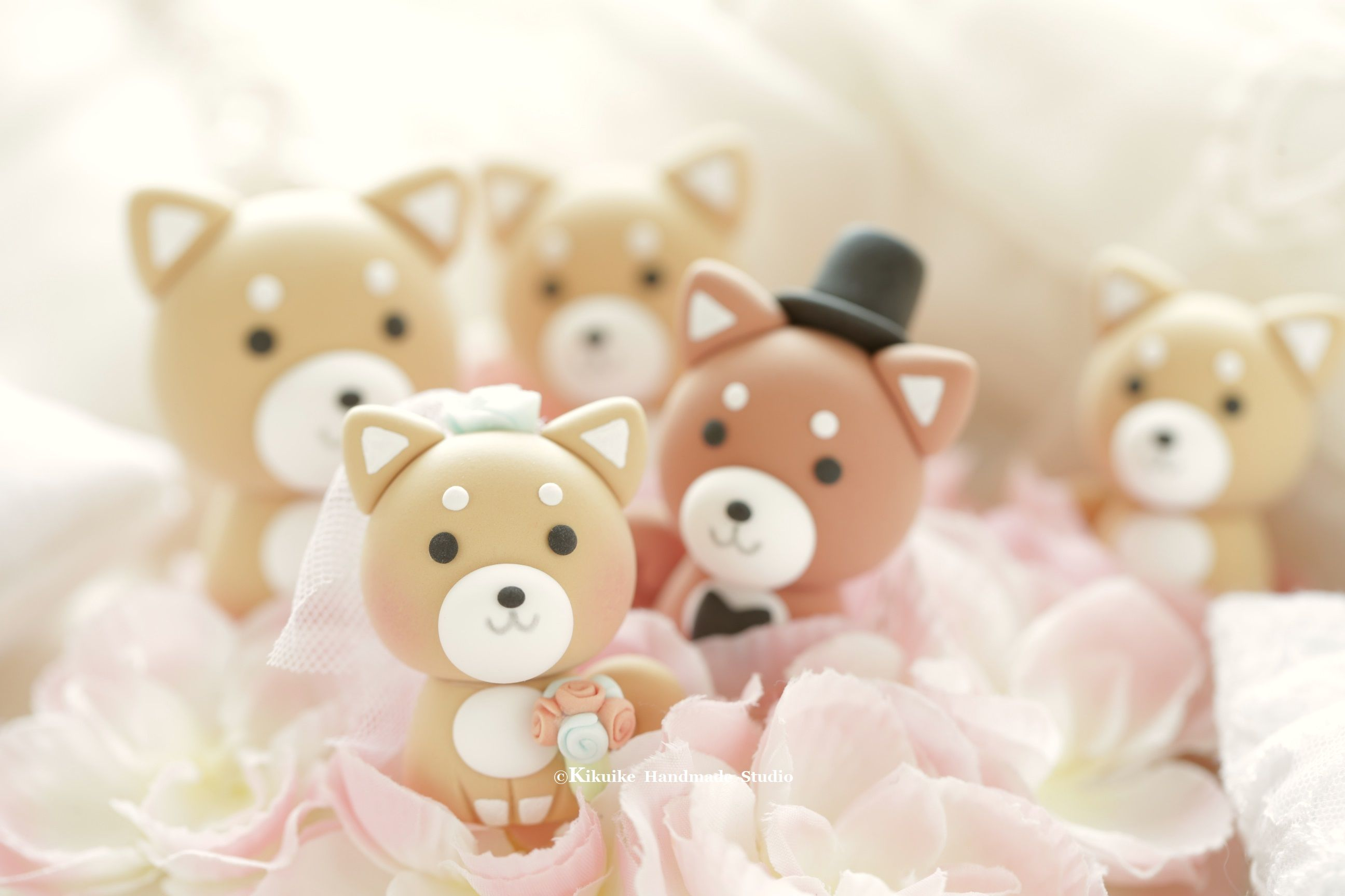Shiba inu wedding cake topper dogs cake topper and pets wedding