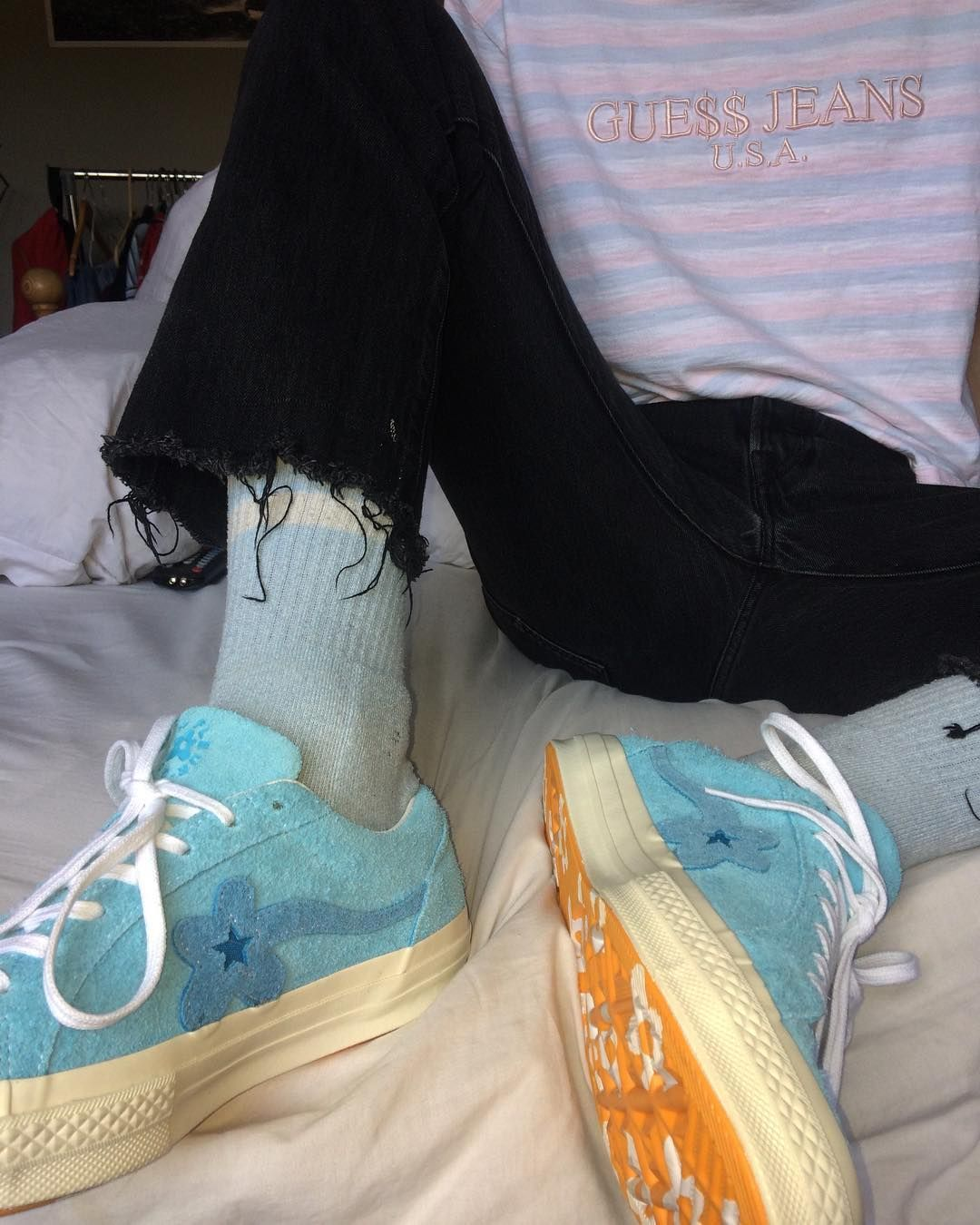 Bachelor Blue Tyler The Creator Golf Le Fleur Asap Rocky Guess Cotton Candy Tee Fashion Outfits With Converse Aesthetic Shoes