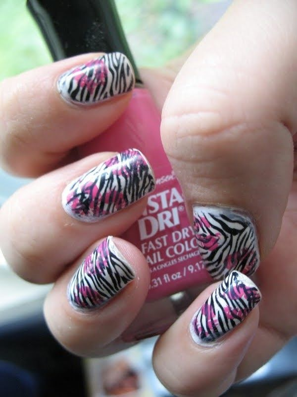 Diy Nail Art Designs Zebra Stripes Nails Pinterest Zebra Nails