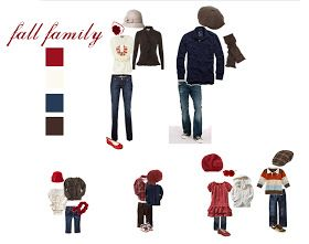 bitsofblissphotography: what to wear Wednesday • Vintage Fall Family • Red cream brown