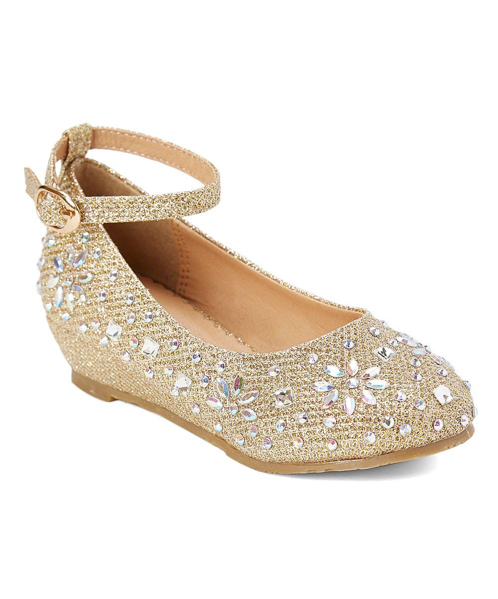 dc6c0d4191d Gold Ankle-Strap Sophie Dress Shoe - Infant Toddler   Girls