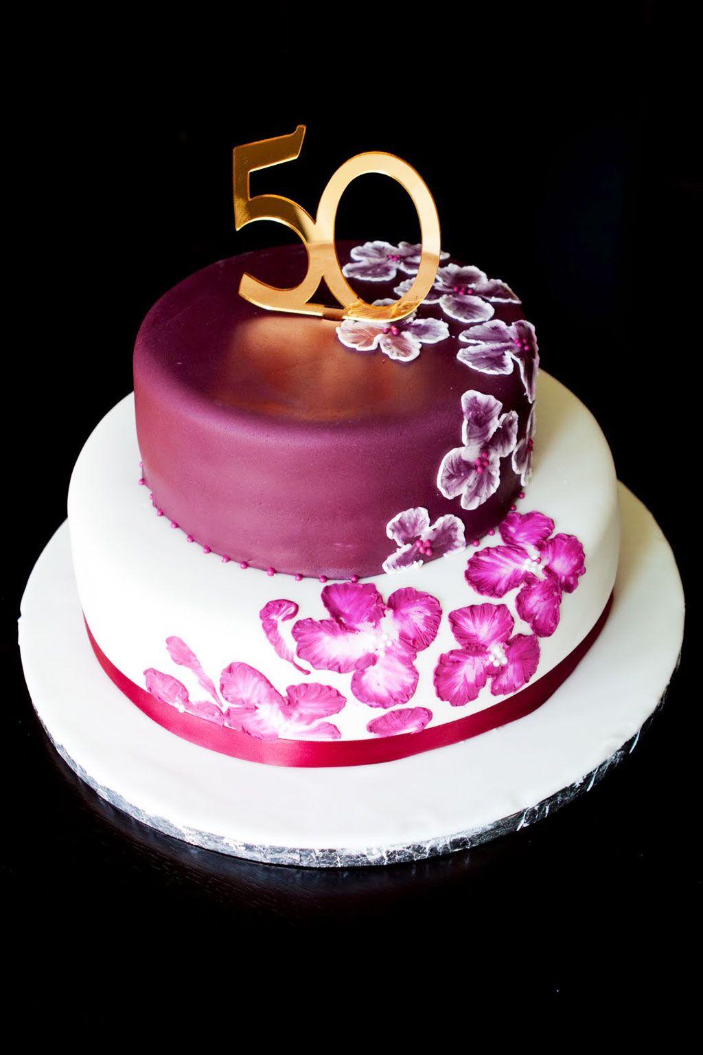 Elegant 50th Birthday Cake Ideas Pinteres