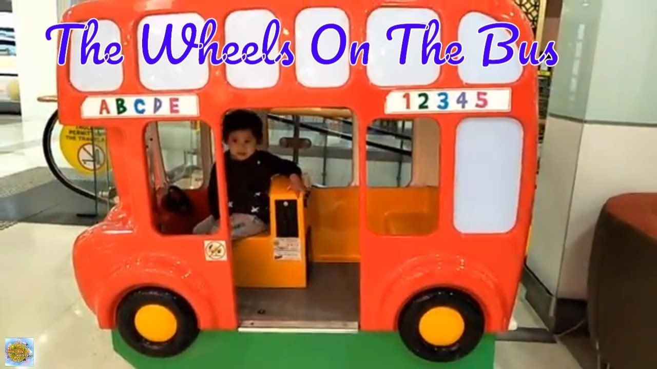 Playing Bus Toys With The Wheels On The Bus Huge Bus Toy For Kids