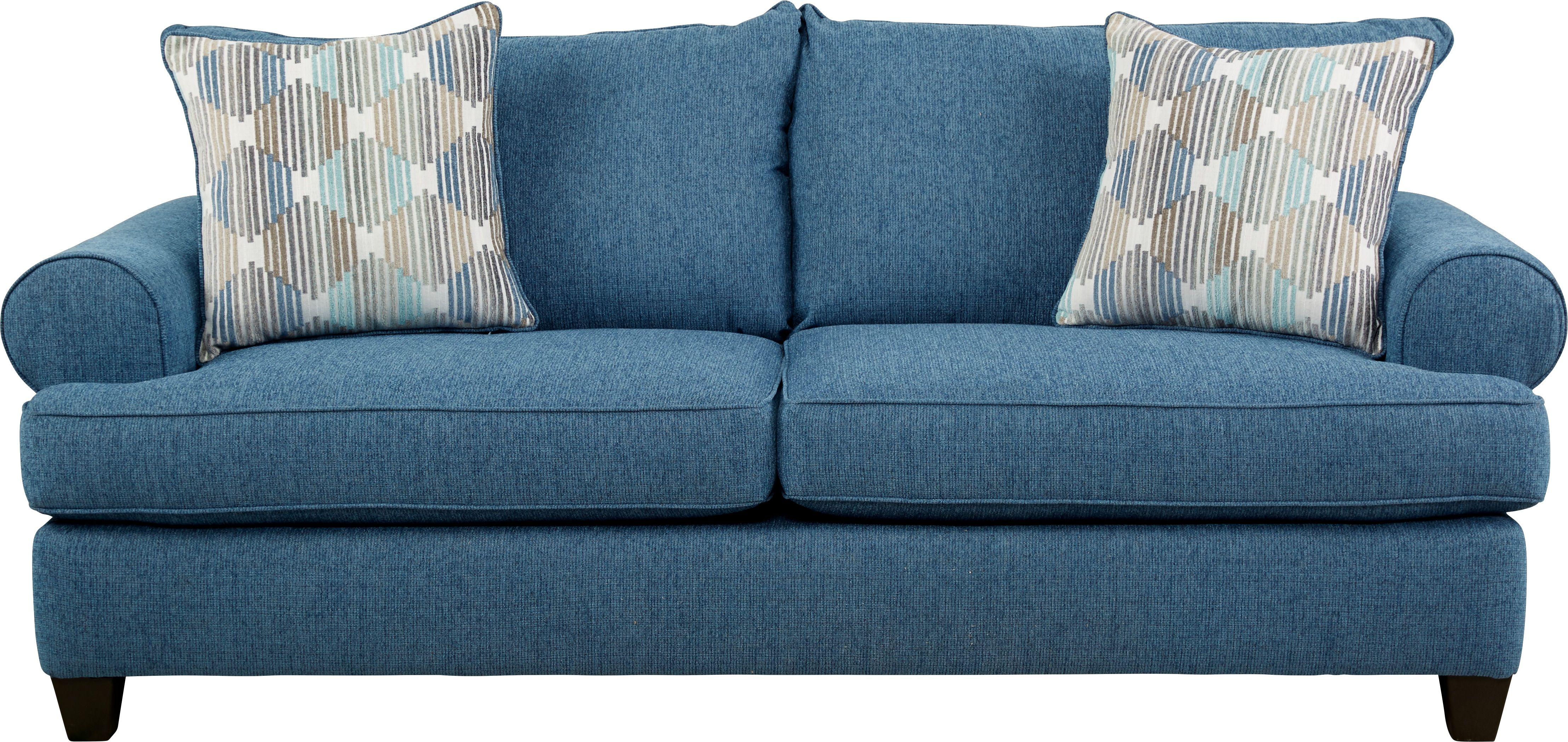 North Bay Chambray Sleeper Blue Leather Sofa Red Leather Sofa