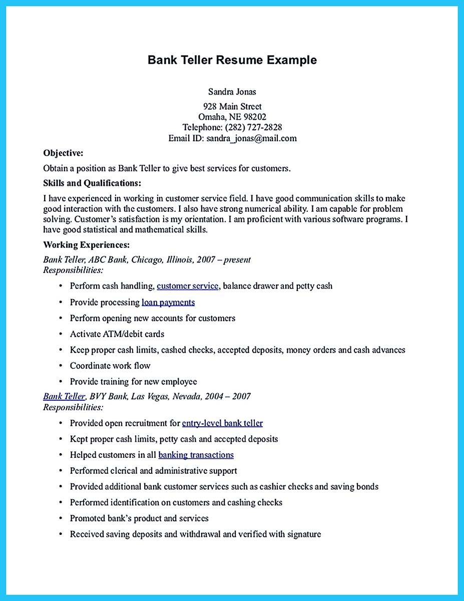 cool learning to write from a concise bank teller resume sample check more at http. Resume Example. Resume CV Cover Letter