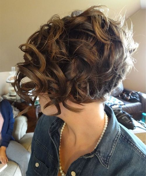 New Stylish Short Curly Hairstyles 2015 2016 Styles Time Thick Hair Styles Hair Styles Short Hair Styles