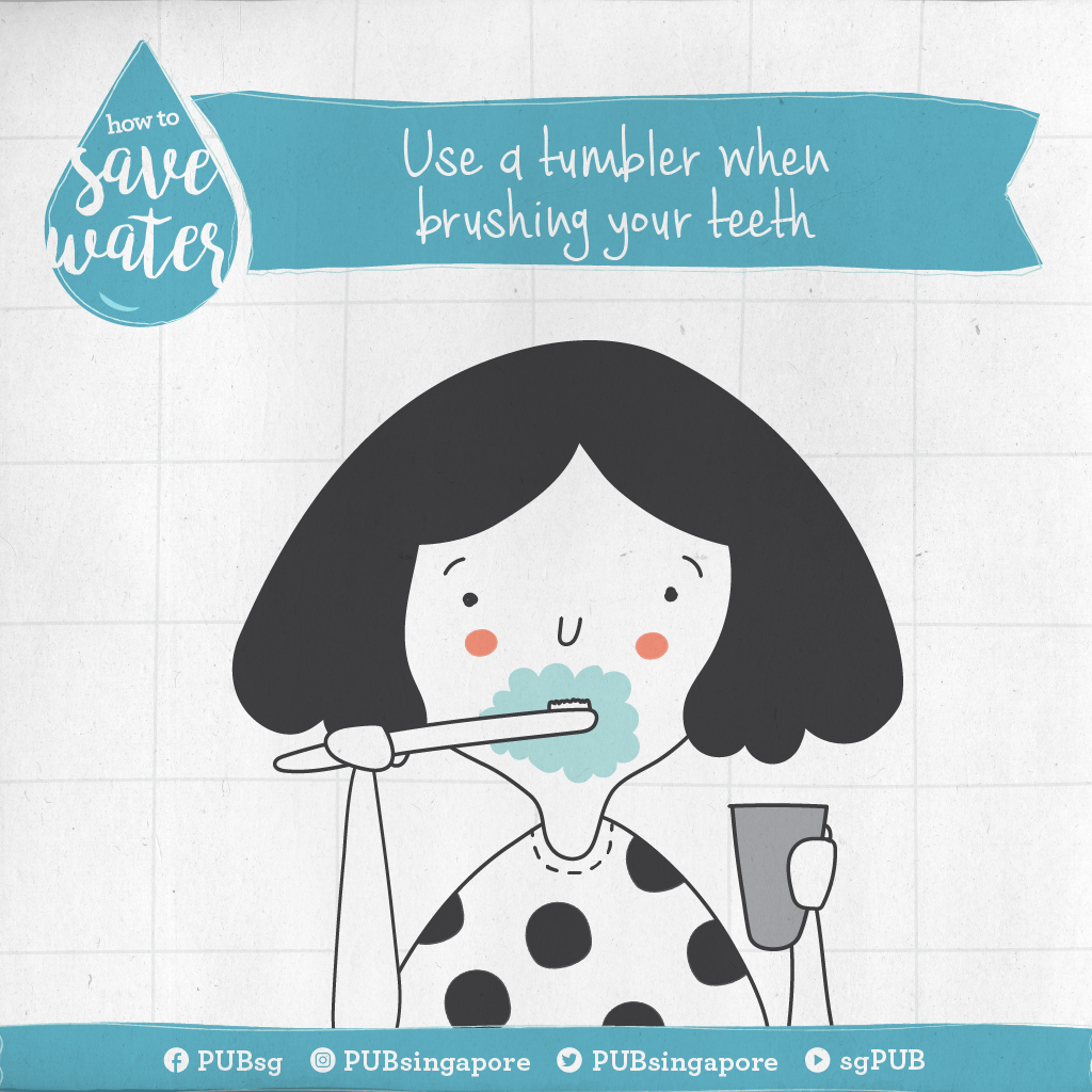 How to save water: Use a tumbler when brushing your teeth | Water ...