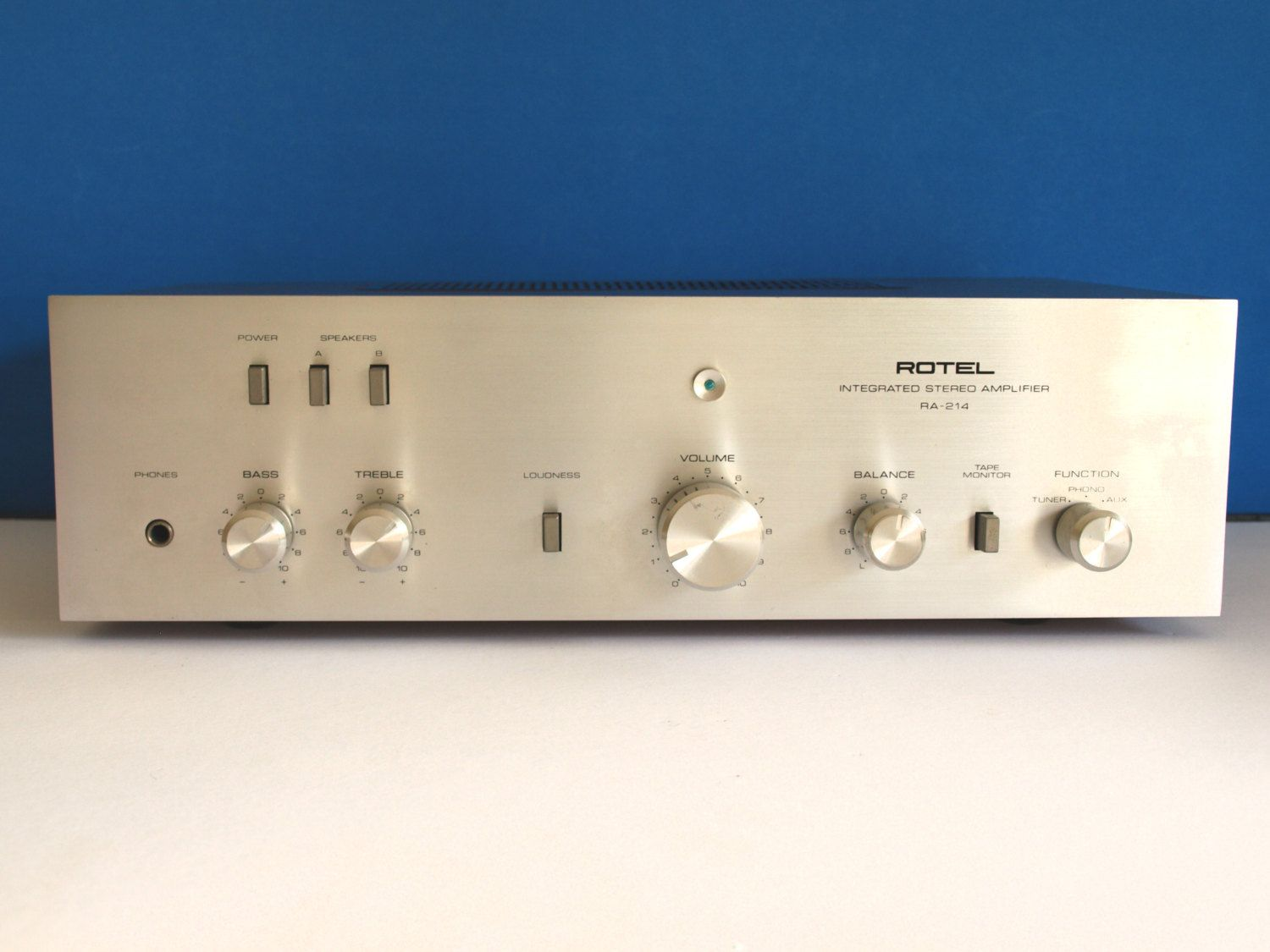 Rotel RA 214 Stereo Integrated Amplifier - 70s Vintage Amp