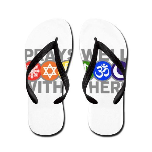 Artsmith Inc Kids Flip Flops Sandals Prays Well With Others