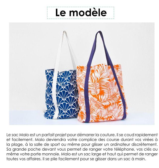 2a2d980f17 Sac Malo patron Gratuit   Patrons gratuits   Bags, Tote Bag et Sewing