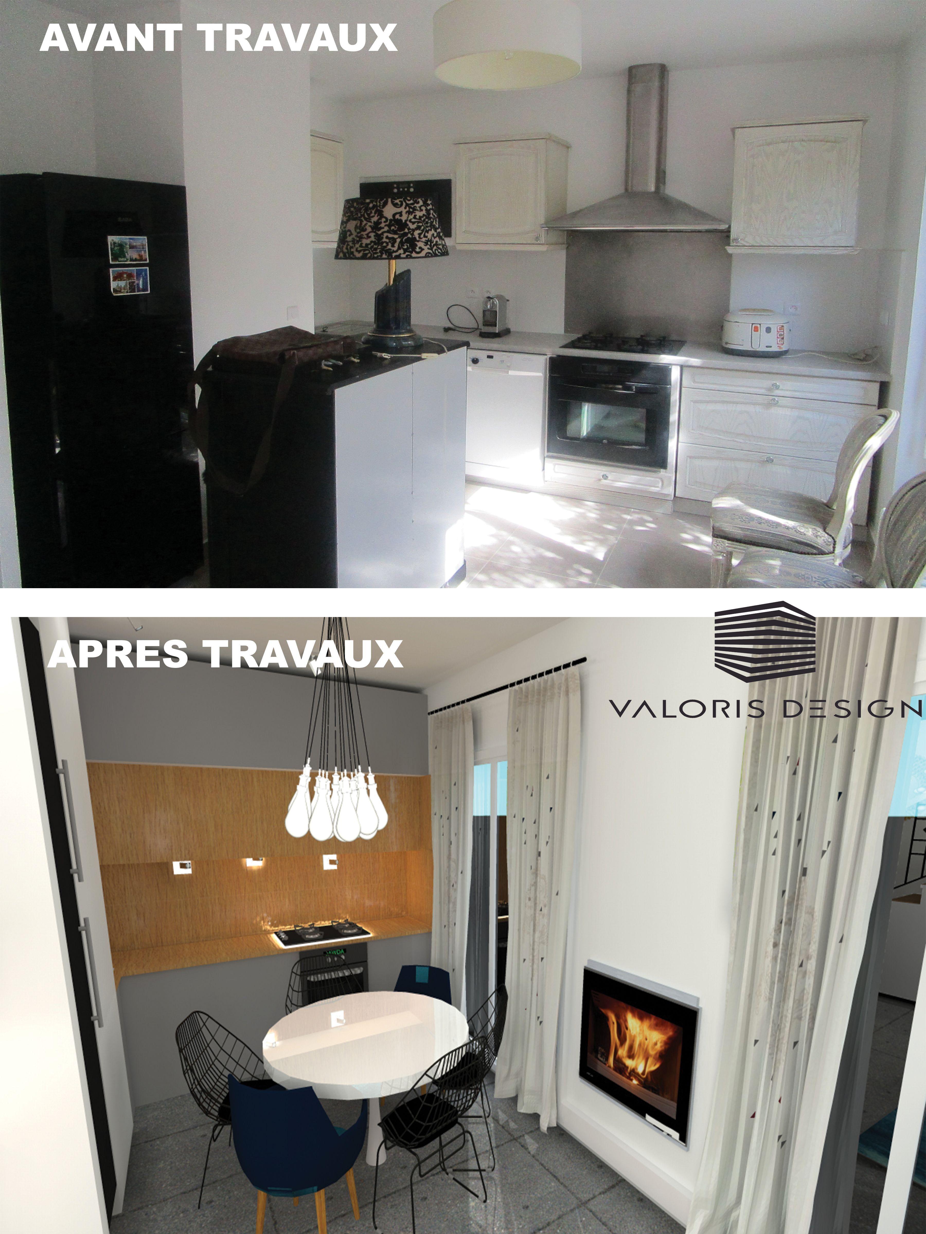 Cuisine :Projet de design d\'espace d\'un salon-cuisine de 20m2 dans ...