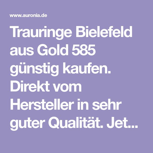 Trauringe Bielefeld aus Gold 585 günstig kaufen. Direkt