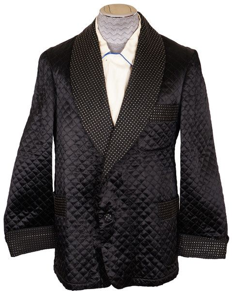 Black Quilted Smoking Jacket Id Wear That Pinterest Black