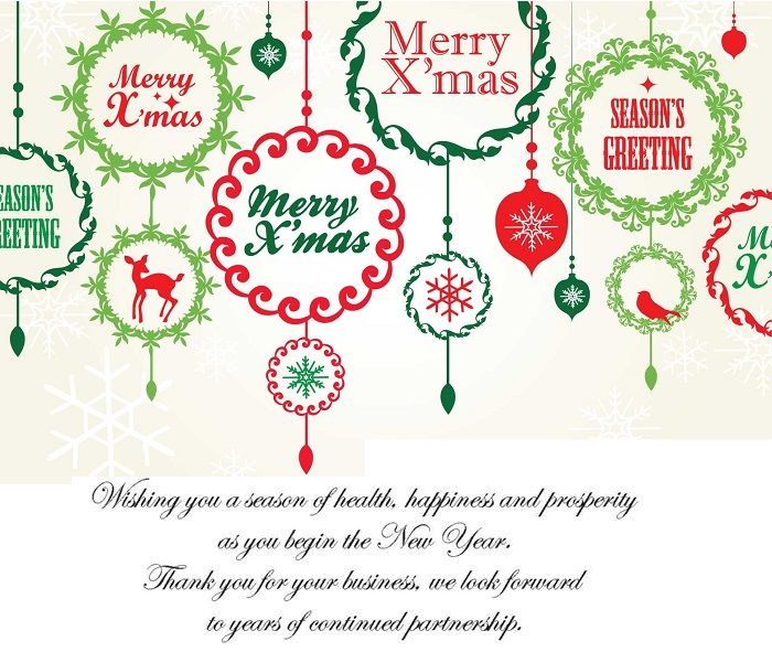 Best christmas greeting messages for business cards for Holiday card sayings for business