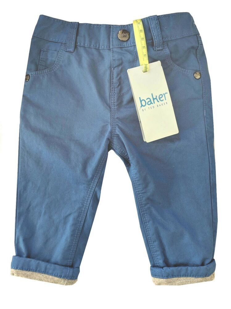 76bb810d3b8 Details about Ted Baker Baby Boy Trousers Chinos Blue Designer 3-6 ...
