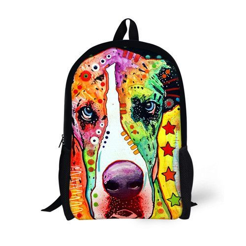 FORUDESIGNS Schoolbags 3D Bulldog Prints Book Bags Shoulder Bags for 9-11 years  old Boys Girls Children Students School Rucksack 9363da094