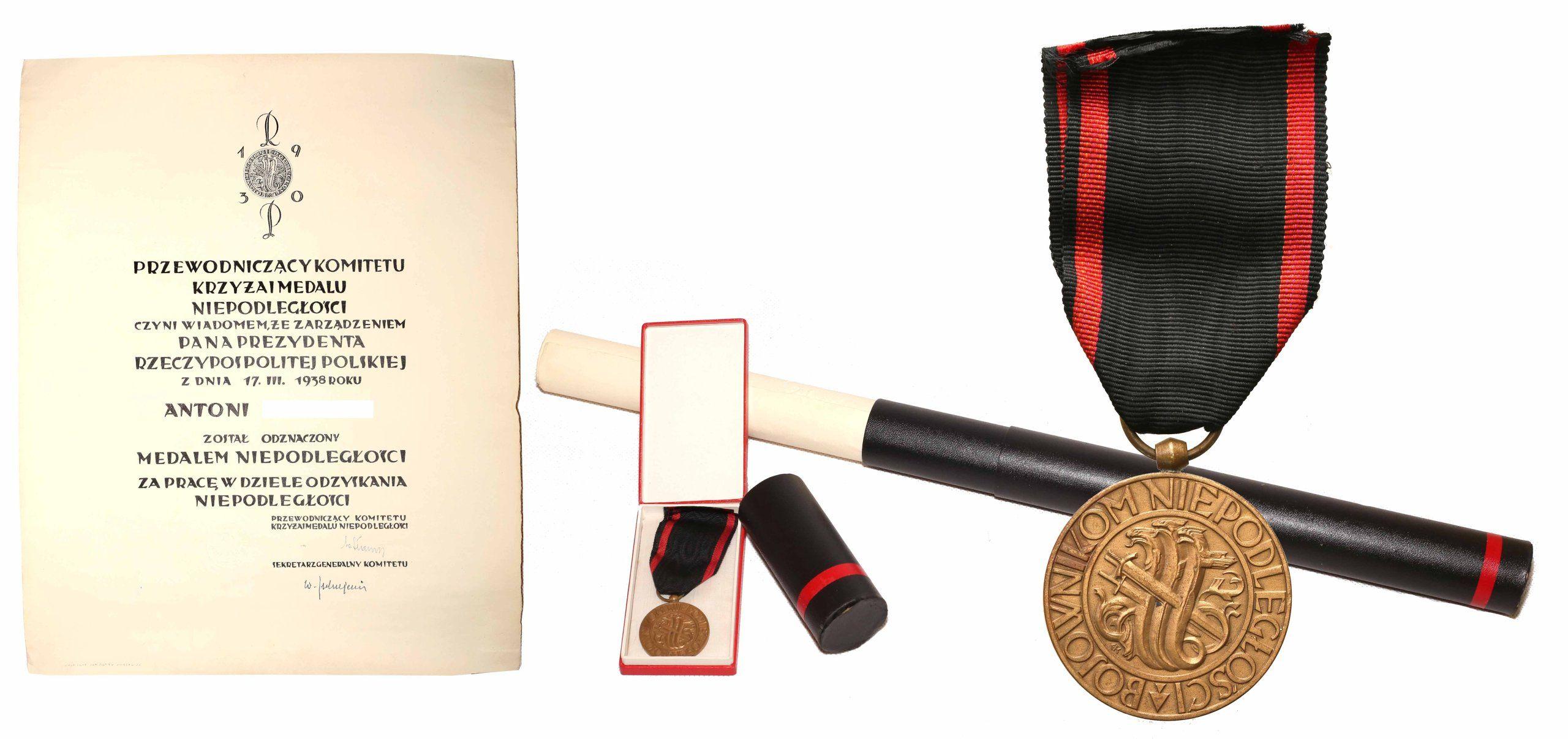 Medal Niepodleglosci Nadanie 1938 Rzadkie 6769306389 Oficjalne Archiwum Allegro Medals