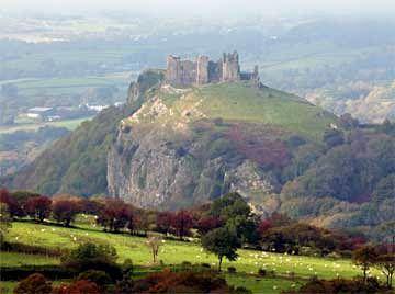 Magical - what a castle should be Carreg Cennen Castle - my favorite Welsh Castle . Secret Tunnels and cliffside vistas.