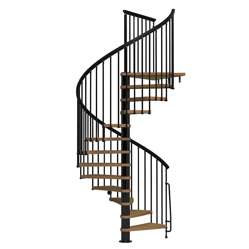 Best Arke Nice1 63 In Black Spiral Staircase Kit K50107 640 x 480