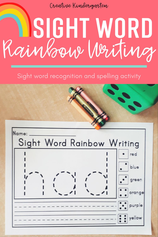 Sight Word Rainbow Writing Activity Rainbow Writing Literacy Activities Kindergarten Sight Words [ 1500 x 1000 Pixel ]
