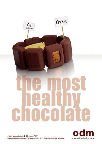 Odm Watch Chocolate Creative Ad Advertisement Print Ade Print Ads Print Creative