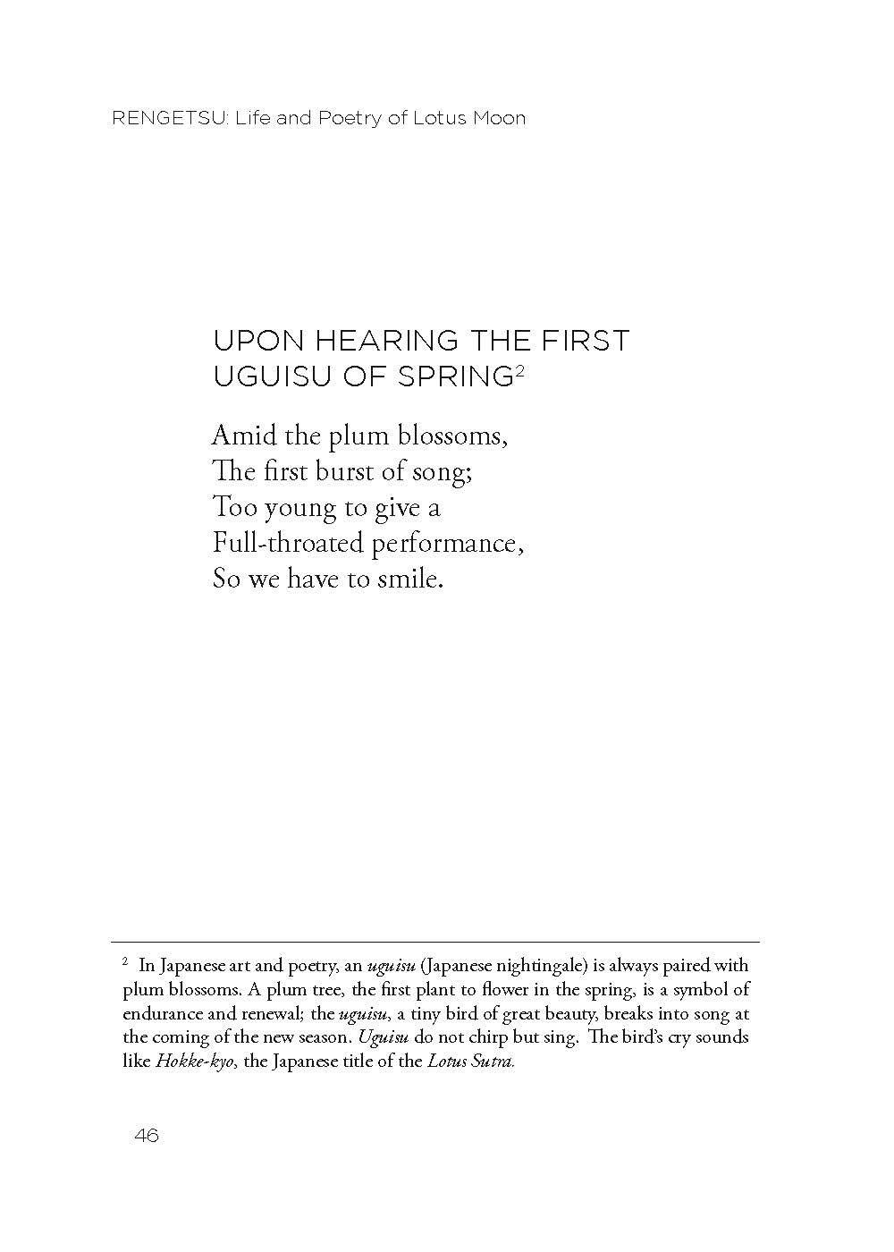 Rengetsus Poetry In Honor Of Spring Translated By John Stevens In