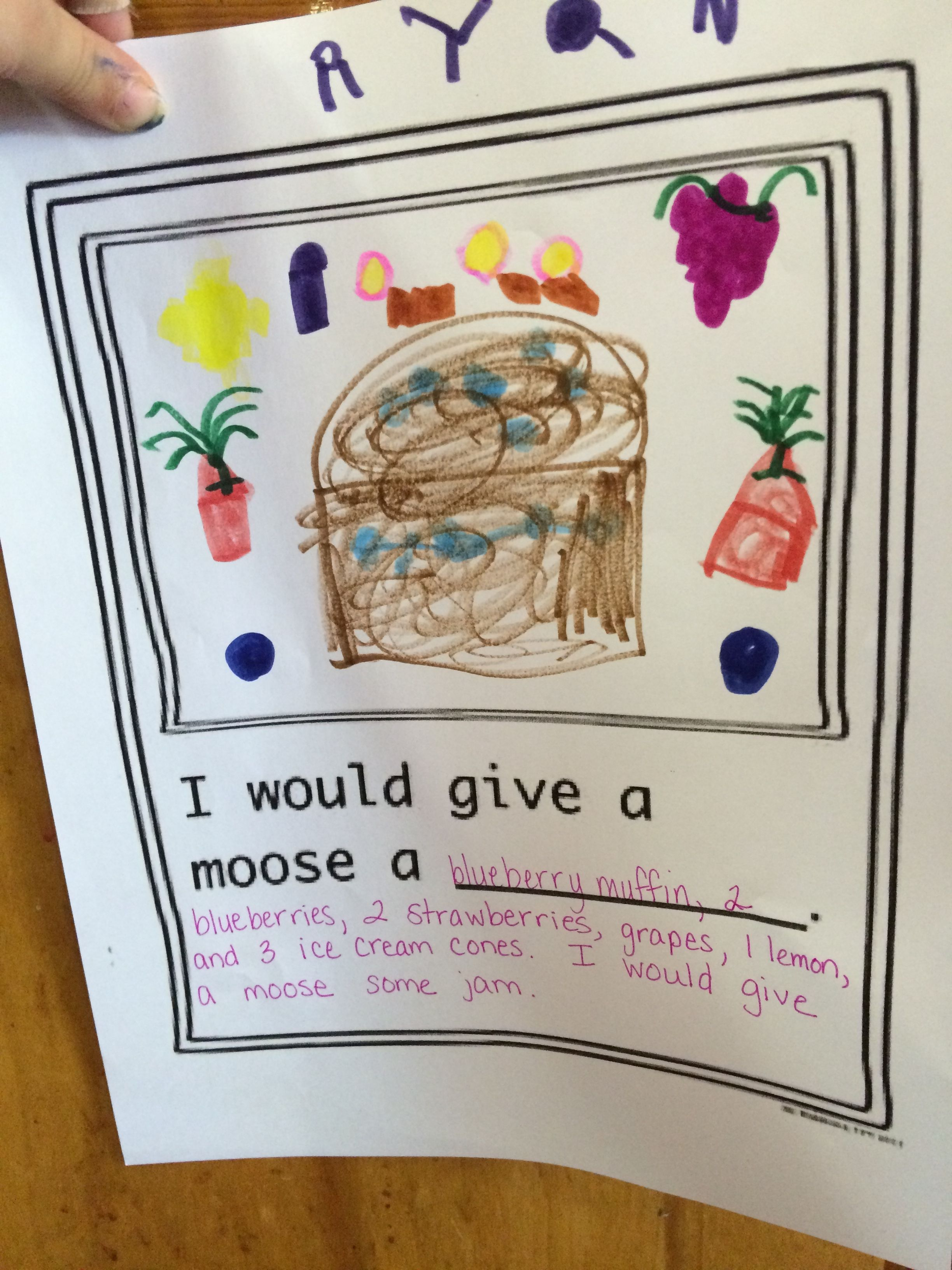 Pin By Michelle Benjamin On If You Give A Moose A Muffin
