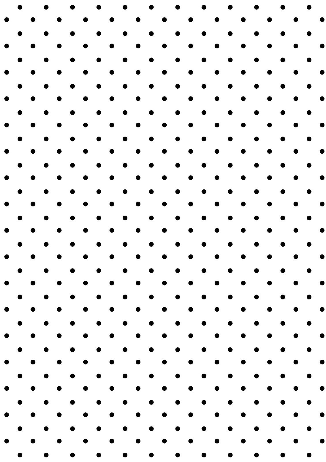 Free digital polka dot scrapbooking paper ausdruckbares for Black and white polka dot decorations