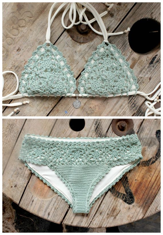 2 PDF, Crochet PATTERNS, Lorelei Bikini Pattern and Doris Lingerie ...