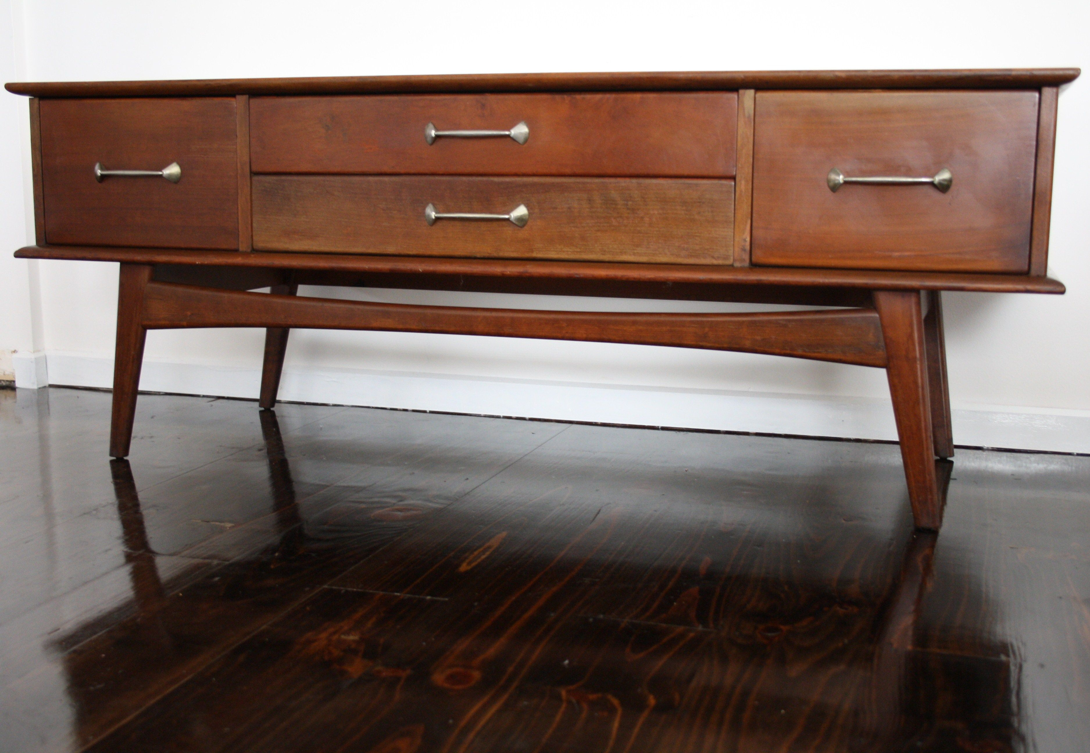 Mid Century Fler Sideboard Buffet Console Hall Sofa Table Vintage