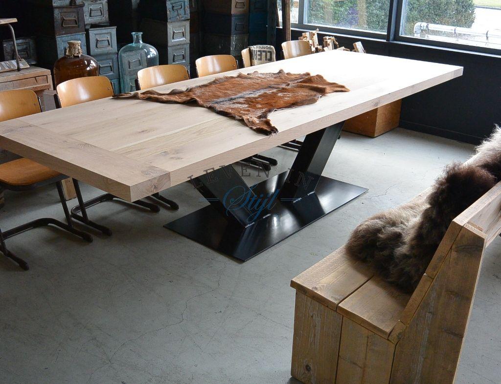 Onderstel Tafel Staal : Stoere eiken tafel grande в г tables and chairs
