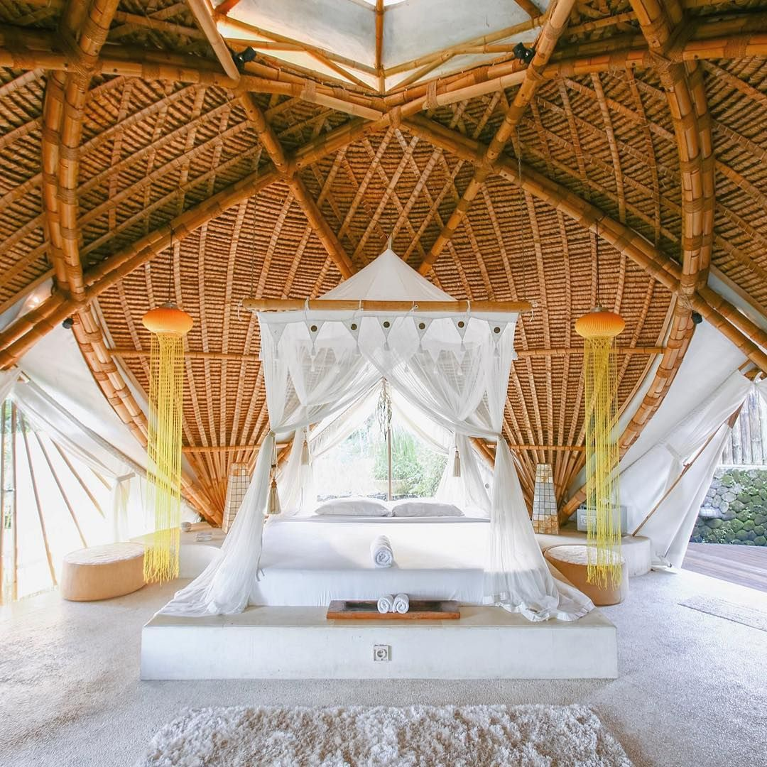 Airbnb Architecture On Instagram Villa Akasha Ubud Bali Indonesia Quite Unlike Any Room You Have Ever Stayed In Before This 35m2 Bali Architecture Ubud