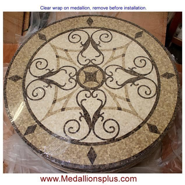 24 Round Floor Medallion Polished Mosaic Tile Medallions