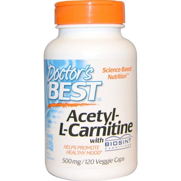 Doctor S Best Acetyl L Carnitine With Biosint Carnitines 500 Mg
