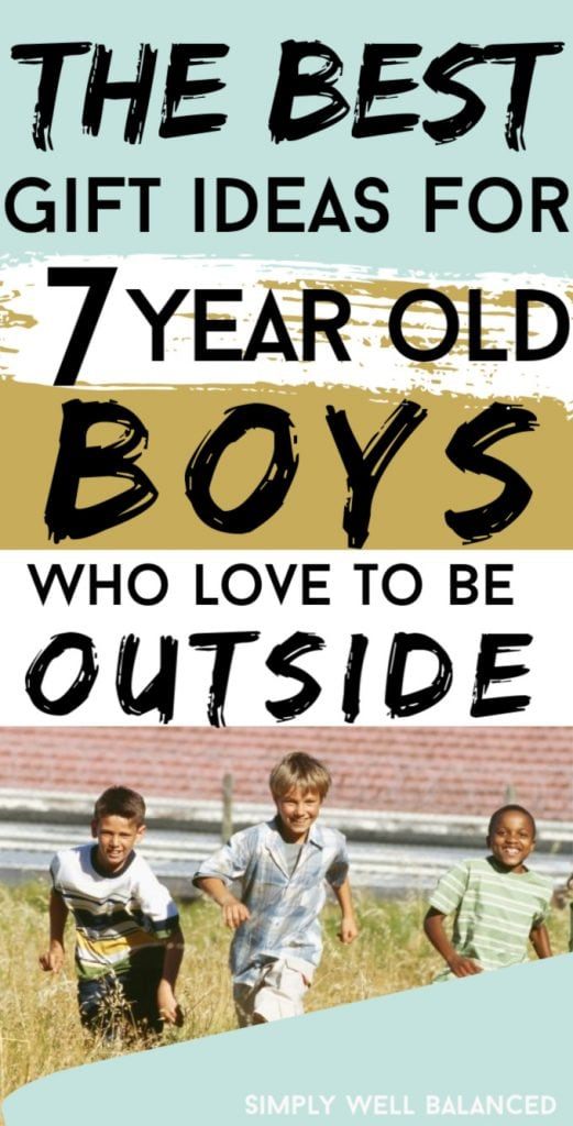 Top 20 Gift Ideas for 7 Year Old Boys: 2019 Edition.Looking for a gift for a 7 year old boy? This list is full of birthday presents that any 7 year old boy would love. Awesome gift ideas for active boys who love to play outside. #giftideas #giftsforboys #birthdaygifts #christmasgiftideas