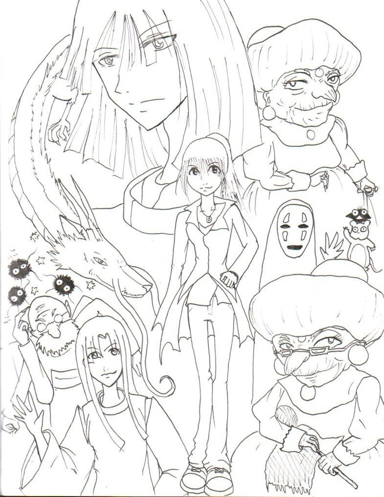 Spirited Away Coloring Pages Coloring Pages Free Coloring Pages Coloring Pages For Kids