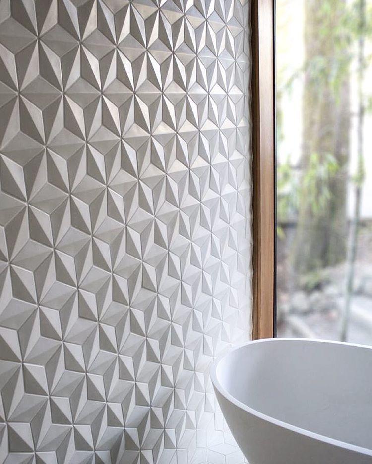 Ruud Van Eijk On Instagram 3d Hex Tiles Tile Trends Beautiful Bathrooms Wall Treatments