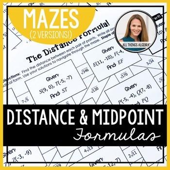 Distance Formula And Midpoint Formula Mazes Distance Formula Midpoint Formula Midpoint The distance formula worksheet answers