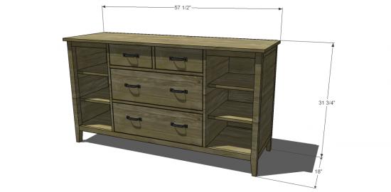 Free DIY Furniture Plans to Build a Land of Nod Blake Dresser ...