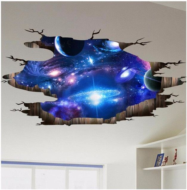 3D Outer Space Wall Sticker