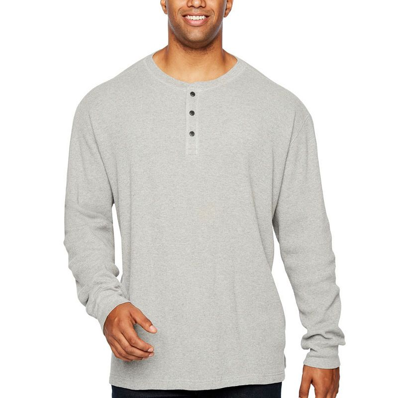 921dc682db The Foundry Big   Tall Supply Co. Long Sleeve Henley Shirt-Big and Tall