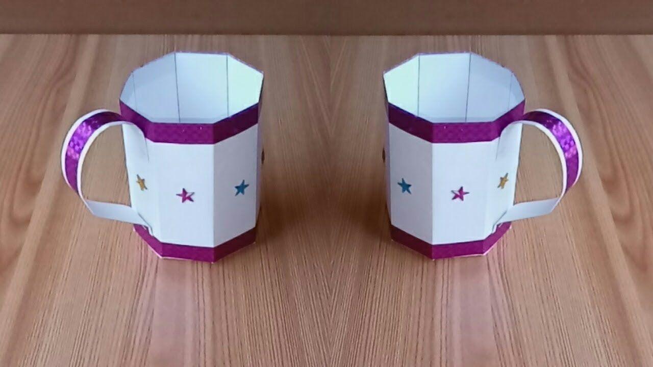 Octagonal Paper Mug Paper Craft Easy Origami Paper Cup Origami Origami Easy Origami Paper Easy Crafts
