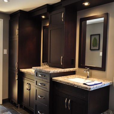 bathroom double vanity with center tower. Double Vanity with Center Tower  12 546 double vanity towers Home Design Photos