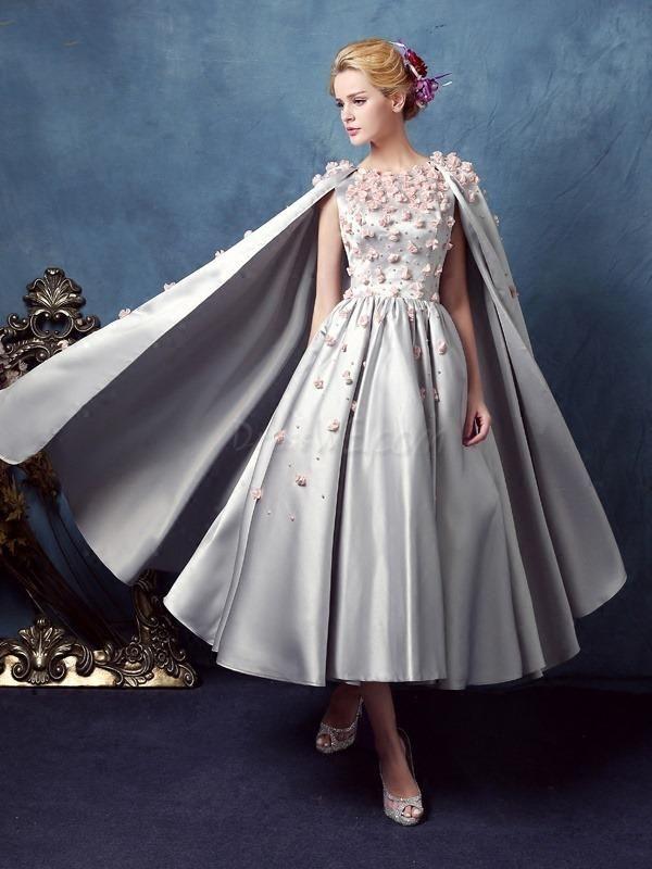Dresswe Vintage Flower Lique Prom Dress With Cape Adorewe