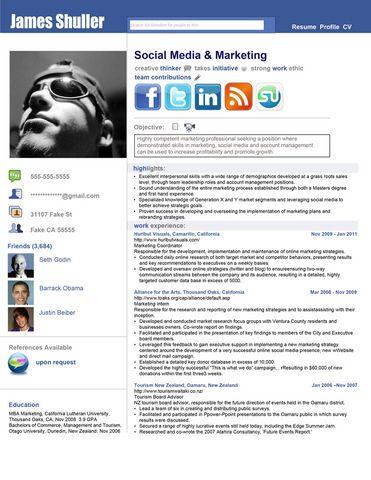 Social Media Resume-impressive Design + Illustration Pinterest - impressive resume