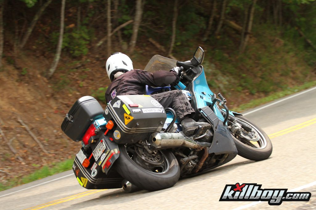 Tail Of The Dragon On A Kawasaki Concours Zg1000 That S Lower Than I Care To Go On Mine Side Car Moto Concours