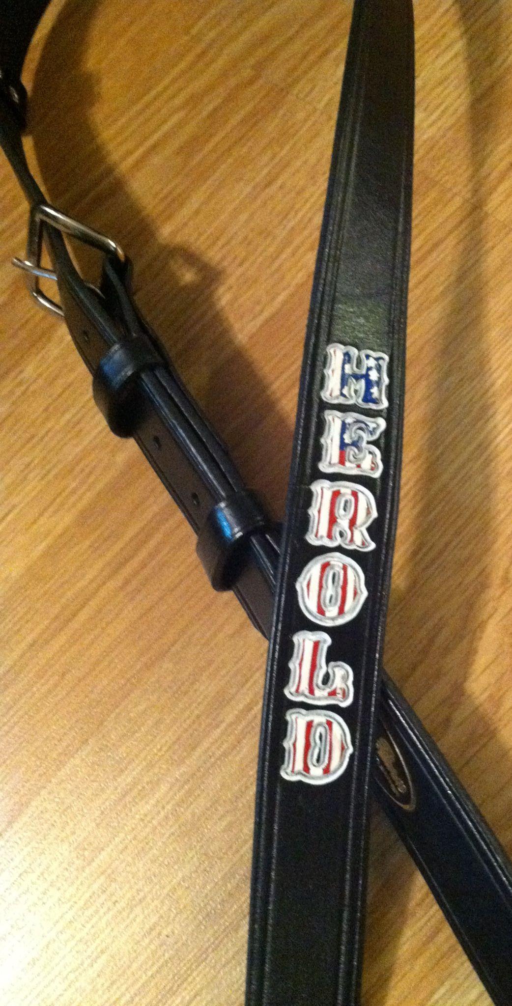 Patriotic firefighter radio strap Fire Rescue