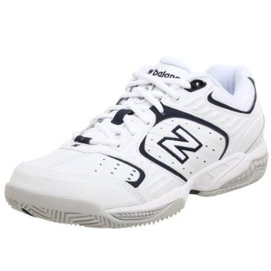 New Balance Men's MC654 Tennis Shoe,White/Navy,8.5 EE New Balance. $59.95