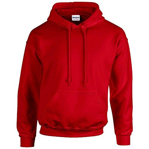 Gildan Heavy Blend Erwachsenen Kapuzen-Sweatshirt 18500 Red, XL - http://
